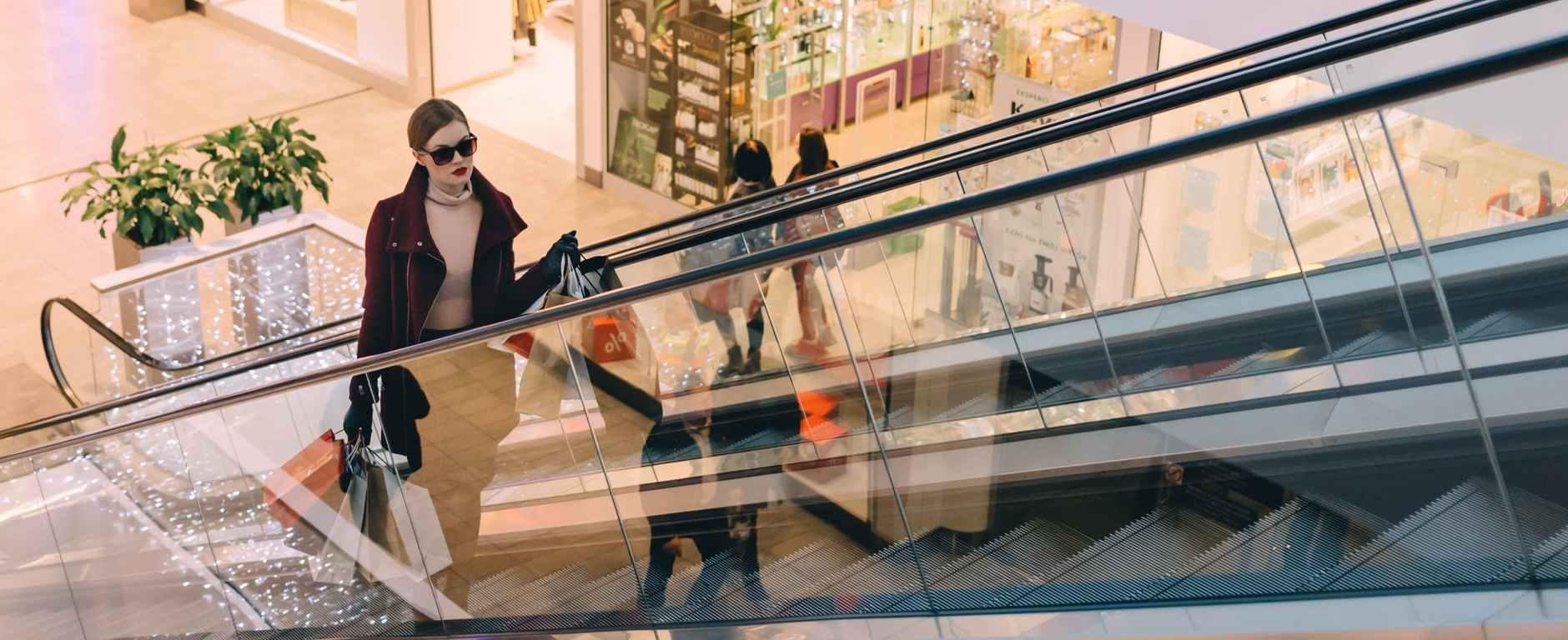 architecture building commerce escalator